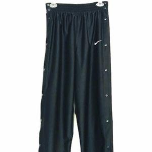 Nike | Black Button Down Tear Away Pants